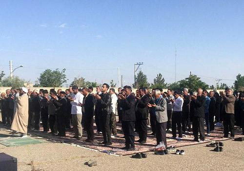 نماز عید سعید فطر در شهر لایبید